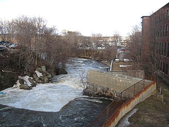 Suncook River - The Suncook River in the center of Suncook, NH
