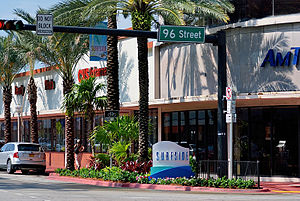 Surfside, Florida - Surfside, Florida, commercial district on Harding Ave.