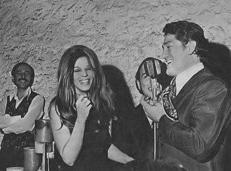 Oscar Bonavena - Bonavera with actress Susana Giménez in 1970.