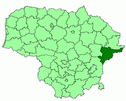 Location o Švenčionys Destrict Municipality
