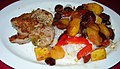 Sweet & Sour Pork with Pinepple, Cherries, Peppers and Rutabaga (9418327959).jpg