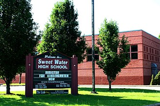 Sweet Water High School - Image: Sweet Water High School Gym circa 1989 Marengo County Alabama