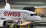 Swiss Bombardier CSeries CS100 HB-JBE (32554428284).jpg