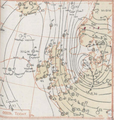 Synoptic chart Met Office Daily Weather Report North Sea Flood 1953.png