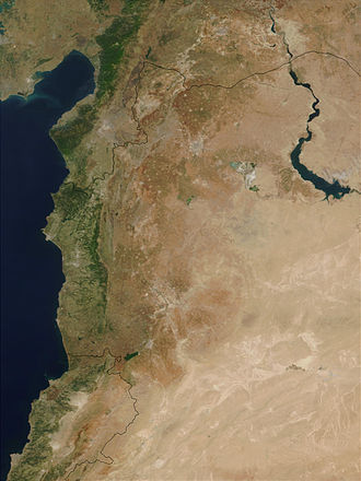 Geography of Syria - Flood in Northern Syria after collapse of the Zeyzoun Dam, June 2002