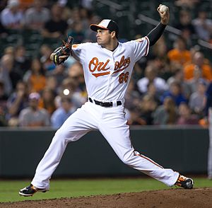T. J. McFarland - McFarland with the Orioles in 2013.