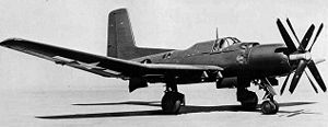 Douglas XTB2D Skypirate - The XTB2D-1 showing the contra-rotating propellers.