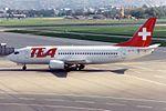TEA - Trans European Airways Boeing 737-3M8 HB-IIB (26266582924).jpg