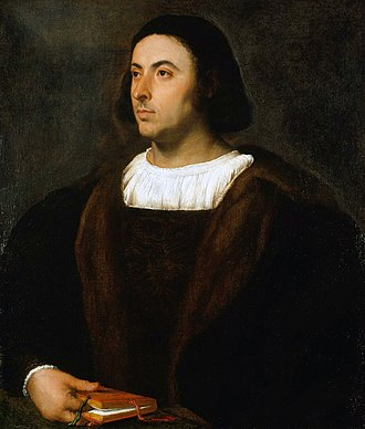 Royal Collection - Titian: Portrait of Jacopo Sannazaro, 1514–18, part of the Dutch Gift presented to Charles II in 1660