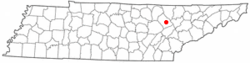 Location of Wartburg, Tennessee