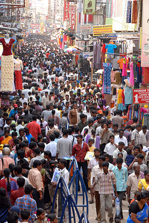 Nadar (caste) - Image: T Nagar Ranganathan Street