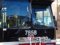 TTC bus 7858 heading east on the Esplanade at Sherbourne, 2014 12 07 (2) (15946204326).jpg