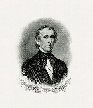 BEP engraved portrait of Tyler as president