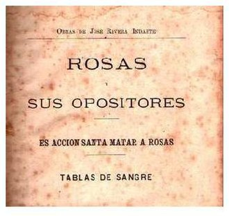 "José Rivera Indarte - The ""Blood Tables"""