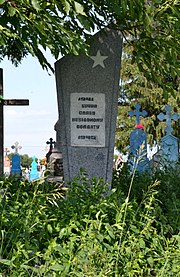 Tagachyn Turiiskyi Volynska-grave of the unknown soviet warrior-III.jpg