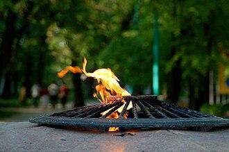 Taganrog during World War II - Eternal flame in Taganrog's Gorky Park