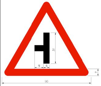 Three-way junction - Image: Taiwan road sign Art 030.3