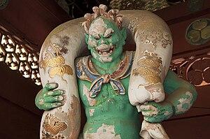 Fūjin - Statue at Taiyū-in in Nikkō