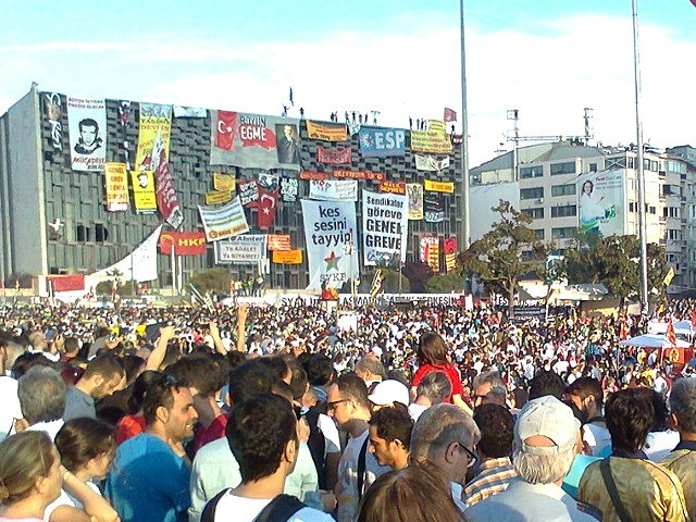 Taksim Square Ataturk Cultural Center Rally