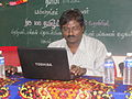 Tamil Wikipedia and Tamil Computing Workshop,Salem 2012 -Prof. Maa.Thamizhpparithi.JPG