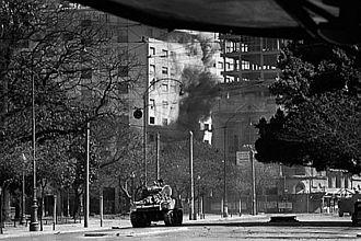 1963 Argentine Navy revolt - Azules (Blue) Sherman tanks.