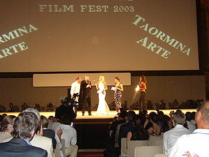 Taormina Film Fest - Director Joel Schumacher at Taormina Film Fest in 2003 (Italian premiere of Phone Booth)
