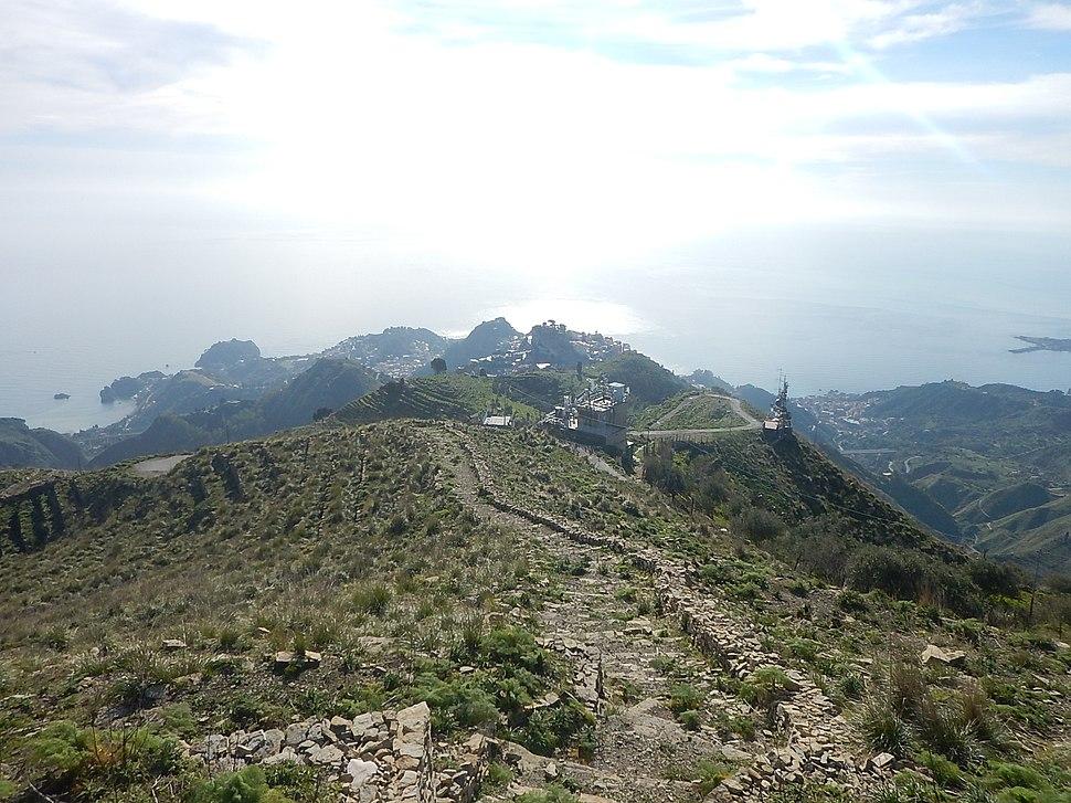 Taormina from monte venere
