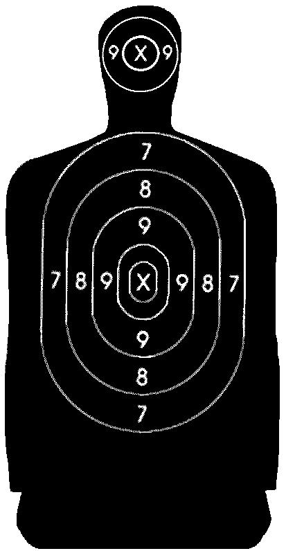 Target-human silhouette