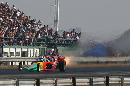 Jet-propelled dragster in Tarlton, South Africa Tarlton-Drag racing-004.jpg