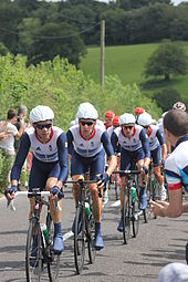 Millar on the front of the peloton during the 2012 Olympic Road Race 2c633a924