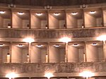 "Balcony of the ""Teatro Sociale"" in Bergamo, Italy."