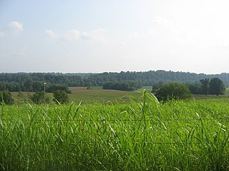 Battle of Tebbs Bend - Overview of the battlefield