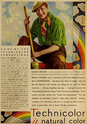 Paramount on Parade - Paramount on Parade featured in a 1930 advertisement for Technicolor