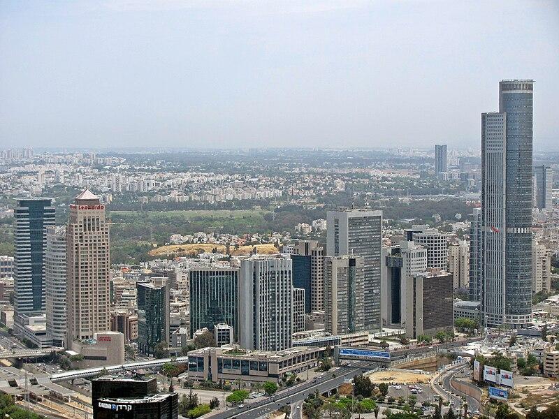 Ramat Gan skyline, with the Moshe Aviv Tower and Diamond Exchange District