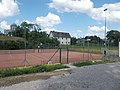 Tennis courts at Rugby Club, Primate's Island, Esztergom, Hungary.jpg