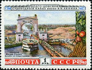Volga–Don Canal - Image: Teploxod Stalina 1953