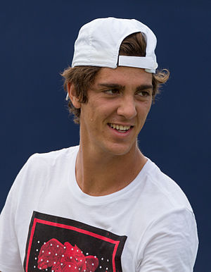 Thanasi Kokkinakis - Kokkinakis playing at the Aegon Championships in London, England.