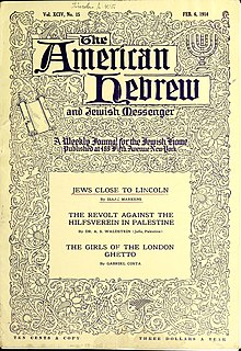 <i>The American Hebrew</i> magazine