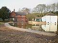 The Boar Inn and the duckpond, Moddershall - geograph.org.uk - 1805821.jpg