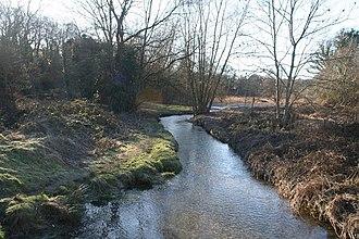 River Clywedog - The Clywedog near Bersham