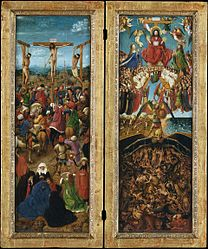 Jan van Eyck: Crucifixion and Last Judgement diptych