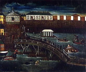 Neva River - Image: The Flood in St.Petersburg in 1824. 1820 ies