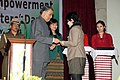 The Governor of Mizoram, Lt. Gen. (Retd.) M. M. Lakhera distributing the EPIC to new voter on the occasion of the National Voters Day celebration at Aizawl, Mizoram on January 25, 2011.jpg