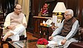 The Governor of Uttar Pradesh, Shri Ram Naik calling on the Union Minister for Finance and Corporate Affairs, Shri Arun Jaitley, in New Delhi on August 30, 2016.jpg