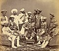 The Maharaja Scindhia of Gwalior with state officials.jpg