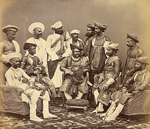 Jayajirao Scindia - The Maharaja Scindhia of Gwalior with state officials