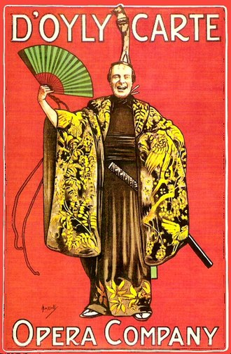 The Mikado - Theatre poster for The Mikado