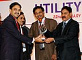 The Minister of State of Power, Shri Bharatsinh Solanki presenting the best production award, at ELECRAMA 2010 exhibition of Electric Industry, in Mumbai on January 22, 2010.jpg