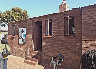 Mandela and Mase's home in the Johannesburg township of Soweto The Nelson Mandela House.jpg