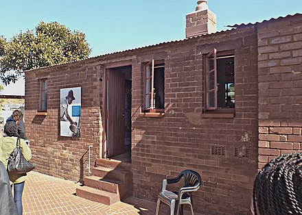 Mandela's former home in the Johannesburg township of Soweto The Nelson Mandela House.jpg